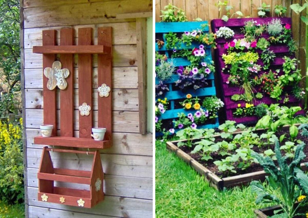 Ozdoby z palet do ogrodu - Pomysły na palety w ogrodzie