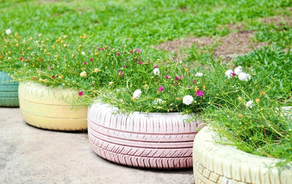 Co można zrobić z opon do ogrodu?